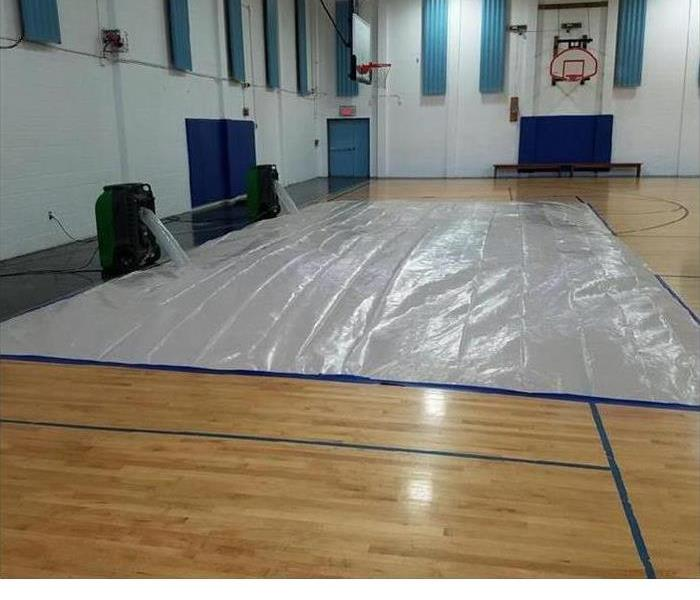 Water Damage in Gym